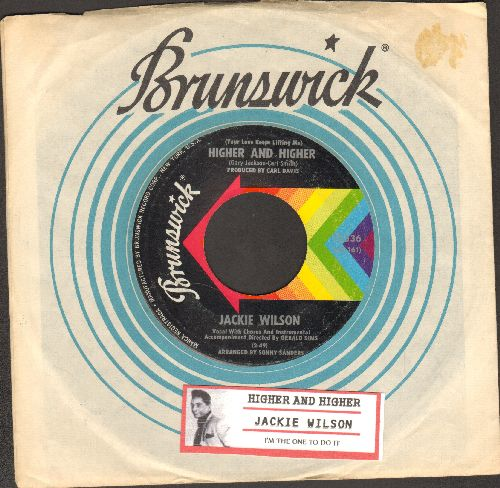 Wilson, Jackie - (Your Love Is Lifting Me) Higher And Higher/I'm The One To Do It (with Brunswick company sleeve and juke box label) - EX8/ - 45 rpm Records