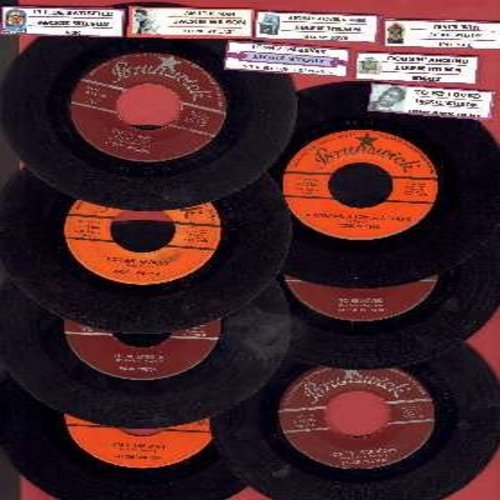 Wilson, Jackie - 7 Original 45rpm records by the Legendary Jackie Wilson.  Hit titles include Lonely Teardrops/In The Blue Of Evening, I'll Be Satisfied/Ask, A Woman A Lover A Friend/All My Love, That's Why (I Love You So)/Love Is All, Night/Doggin' Aroun