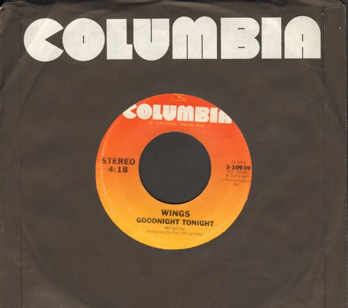 Wings - Goodnight Tonight (Don't Say It)/Daytime Nightime Suffering  - NM9/ - 45 rpm Records