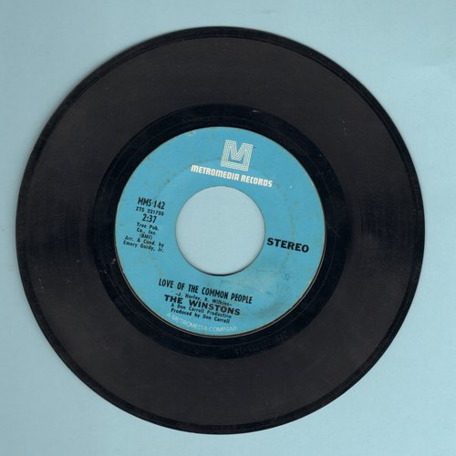 Winstons - Love Of The Common People/Wheel Of Fortune - EX8/ - 45 rpm Records