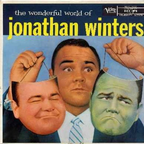 Winters, Jonathan - The Wonderful World of Jonathan Winters - Great vintage comedy routines by the original crazy nut! (vinyl LP record) - EX8/VG6 - LP Records