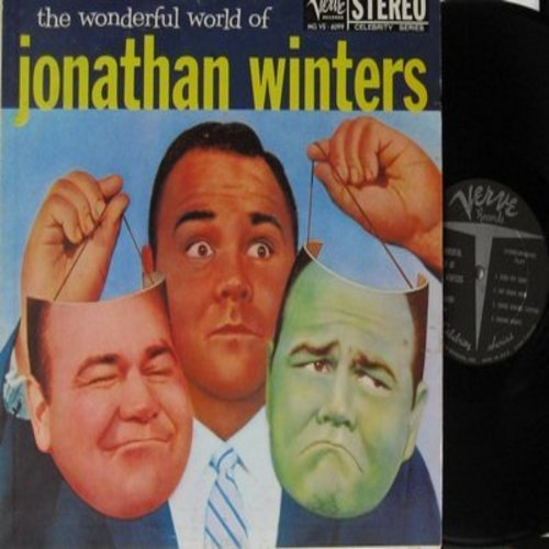 Winters, Jonathan - The Wonderful World of Jonathan Winters - Great vintage comedy routines by the original crazy nut! (vinyl STEREO LP record) - NM9/EX8 - LP Records