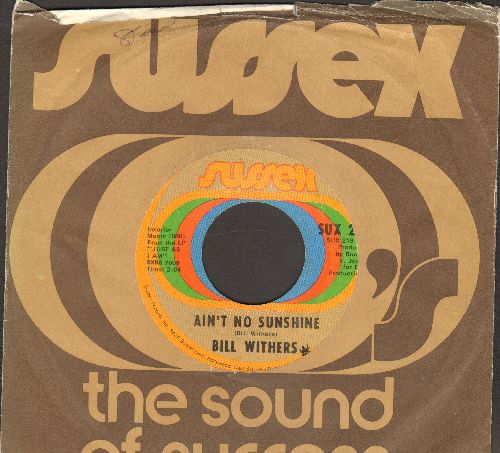 Withers, Bill - Ain't No Sunshine/Harlem (with company sleeve) - EX8/ - 45 rpm Records
