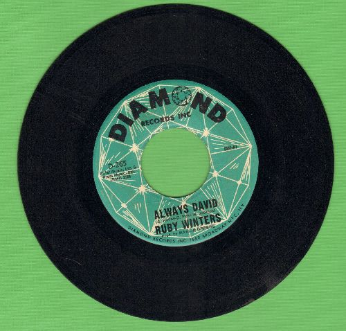 Winters, Ruby - Always David/We're Living To Give (To Give To Each Other) - VG7/ - 45 rpm Records