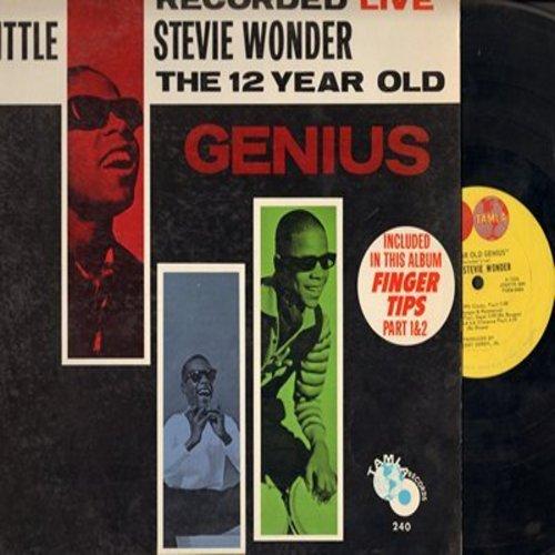 Wonder, Little Stevie - Little Stevie Wonder - The 12 Year Old Genius - Recorded LIVE: Fingertips Part 1 + 2, Soul Bongo, La La La La La, The Masquerade Is Over, Hallelujah I Love He So, Drown In My Own Tears, Don't You Know (vinyl MONO LP record) - VG7/E