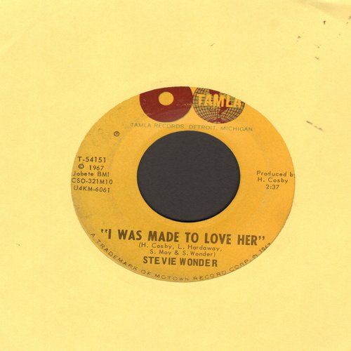 Wonder, Stevie - I Was Made To Love Her/Hold Me - VG6/ - 45 rpm Records