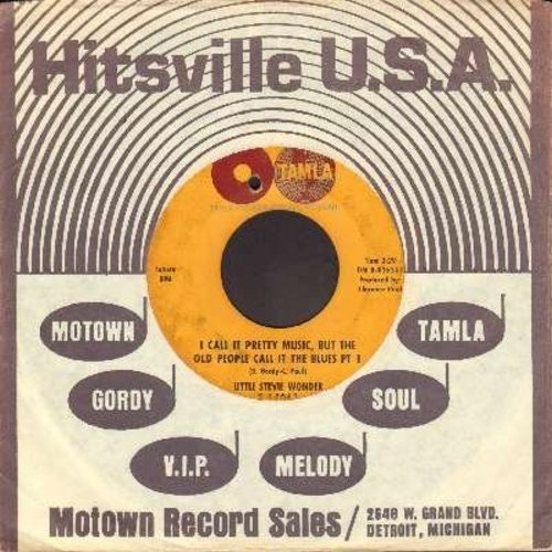 Wonder, Little Stevie - I Call It Pretty Music, But The Old People Call It The Blues (Parts 1 + 2) (bb) (Little Stevie Wonders FIRST Motown record! With RARE vintage Motown company sleeve) - VG7/ - 45 rpm Records