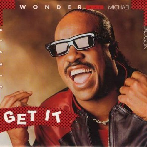 Wonder, Stevie & Michael Jackson - Get It/Get It (Instrumental) (with picture sleeve) - NM9/EX8 - 45 rpm Records