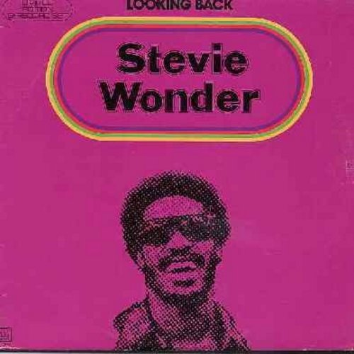 Wonder, Stevie - Looking Back: Contract On Love, Fingertips (Pt. 2), Uptight (Everything Is Alright), Blowin' In The Wind, A Place In The Sun, Signed Sealed Delivered  - EX8/VG6 - LP Records