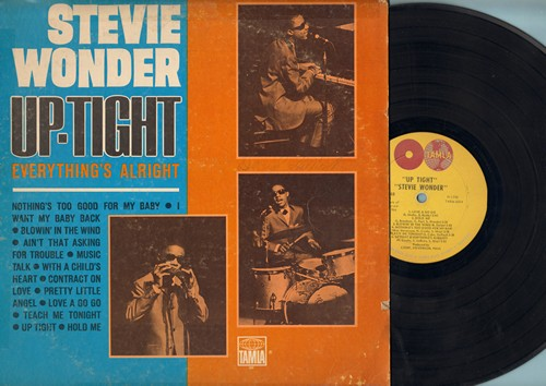 Wonder, Stevie - Up-Tight (Everything's Alright): Blowing In The Wind, I Want My Baby Back, Pretty Little Angel, Contract On Love, Love A Go Go (vinyl STEREO LP record, 1966 first issue) - EX8/VG6 - LP Records