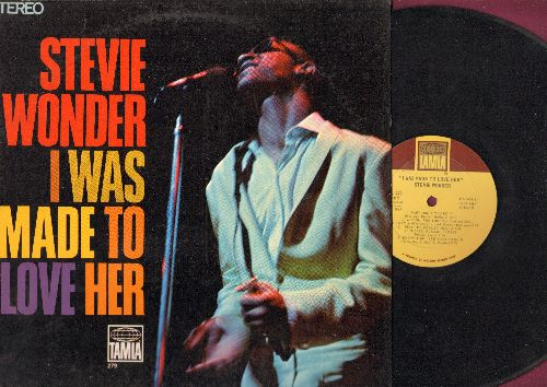 Wonder, Stevie - I Was Made To Love Her: Send Me Some Lovin', Respect, My Girl, Can I Get A Witness, Please Please Please (vinyl STEREO LP record) - EX8/NM9 - LP Records