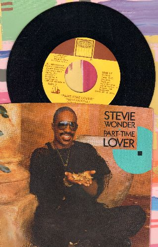 Wonder, Stevie - Part Time Lover/Part Time Lover (Instrumental)(with picture sleeve) - NM9/EX8 - 45 rpm Records