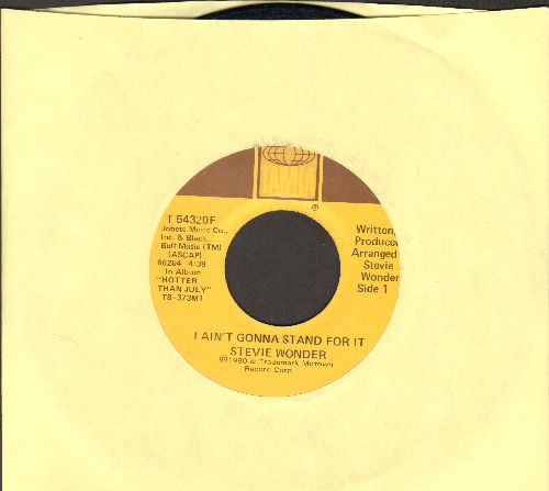 Wonder, Stevie - I Ain't Gonna Stand For It/Knocks Me Off My Feet - EX8/ - 45 rpm Records