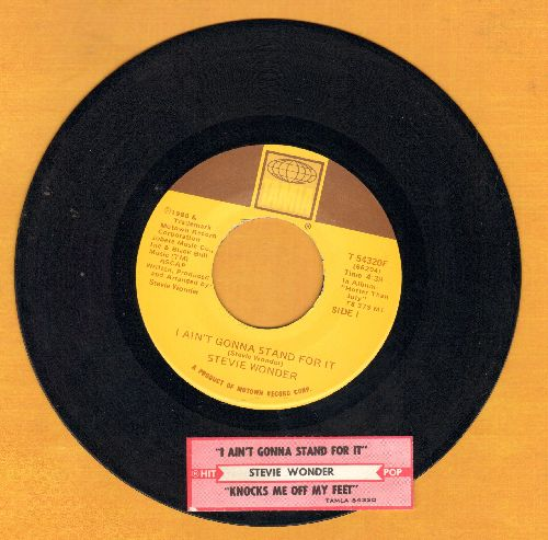 Wonder, Stevie - I Ain't Gonna Stand For It/Knocks Me Off My Feet (with juke box label) - EX8/ - 45 rpm Records