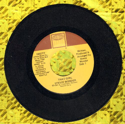 Wonder, Stevie - That Girl/All I Do  - NM9/ - 45 rpm Records