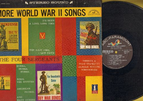 Four Sergeants & Rosemary June - More World War II Songs: Remember Pearl Harbor, Rosie The Riveter, American Patrol, It's Been A Long Long Time (vinyl STEREO LP record) - NM9/EX8 - LP Records