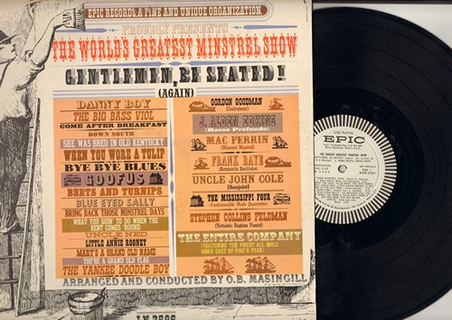 World's Greatest Minstrel Show - The World's Greatest Minstrel Show: Danny Boy, Down South, Bye Bye Blues, Little Annie Rooney, The Yankee Doodle Boy, Uncle Ned (vinyl MONO LP record, DJ advance pressing) - NM9/EX8 - LP Records