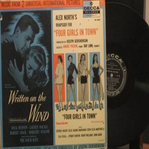 Universal International Orchestra Conducted By Joseph Gershenson - Written On The Wind - Four Girls In Town: Music From 2 Universal-International Pictures (vinyl MONO LP record) - EX8/VG7 - LP Records