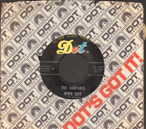 Surfaris - Wipe Out/Surfer Joe (with Dot company sleeve) - NM9/ - 45 rpm Records