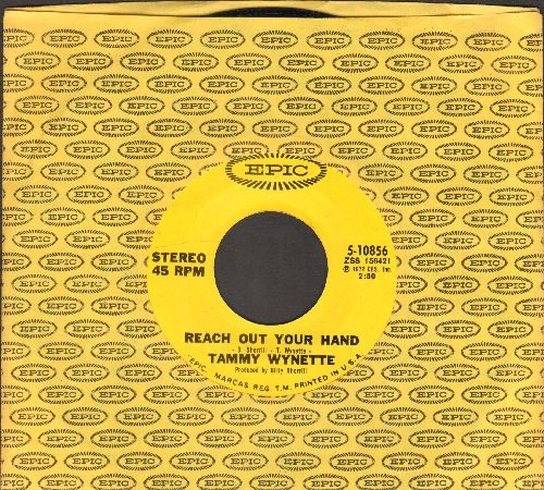 Wynette, Tammy - Reach Out Your Hand/Love's The Answer (with Epic company sleeve) - NM9/ - 45 rpm Records