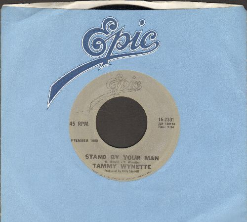 Wynette, Tammy - Stand By Your Man/He Loves Me All The Way (re-issue with Epic company sleeve) - EX8/ - 45 rpm Records
