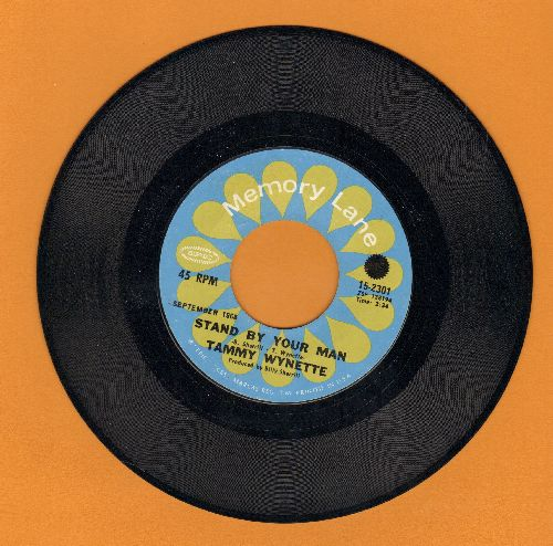Wynette, Tammy - Stand By Your Man/He Loves Me All The Way (re-issue) - NM9/ - 45 rpm Records