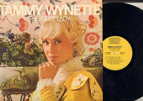 Wynette, Tammy - The First Lady: Run Woman Run, I Wish I Had A Mommy Like You, Buy Me A Daddy, He's Still My Man (vinyl STEREO LP record) - EX8/EX8 - LP Records