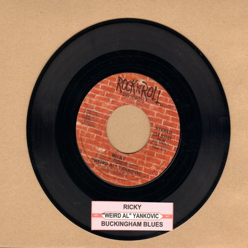 Yankovic, Weird Al - Ricky/Buckingham - NM9/ - 45 rpm Records