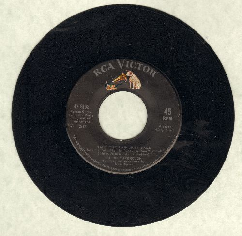 Yarbrough, Glenn - Baby The Rain Must Fall/I've Been To Town - EX8/ - 45 rpm Records