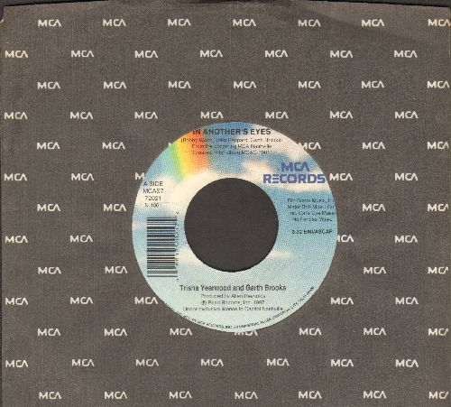 Yearwood, Trisha & Garth Brooks - In Another's Eyes/Want To Live Again (with MCA company sleeve) - NM9/ - 45 rpm Records