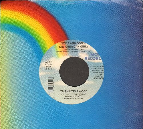 Yearwood, Trisha - XXX's And Ooo's (An American Girl)/One In A Row (with MCA company sleeve) - NM9/ - 45 rpm Records