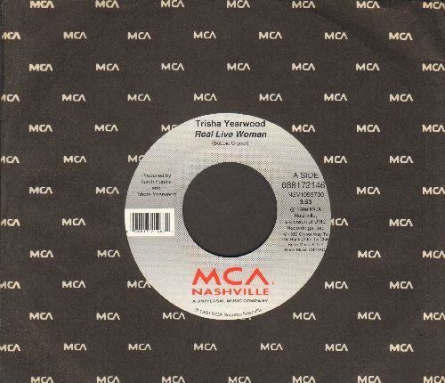 Yearwood, Trisha - Real Live Woman/I'm Still Alive (with MCA company sleeve) - NM9/ - 45 rpm Records