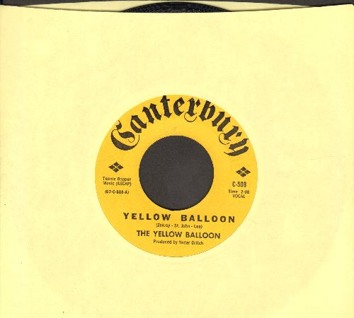 Yellow Balloon - Yellow Balloon/Noollab Wolley - NM9/ - 45 rpm Records