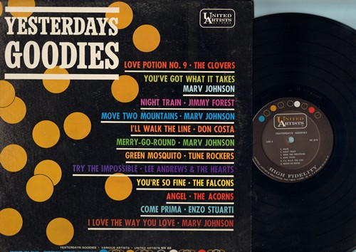 Johnson, Marv, Falcons, Clovers, Acorns, Lee Andrews & The Hearts, others - Yesterday's Goodies: Merry-Go-Round, Love Potion No. 9, You're So Fine, Angel, Come Prima (vinyl LP record, RARE MONO pressing)) - M10/NM9 - LP Records
