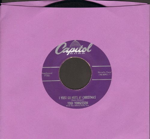 Yorgesson, Yogi - I Yust Go Nuts At Christmas/Yingle Bells (purple label first pressing) - VG7/ - 45 rpm Records