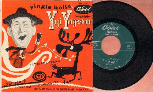 Yorgesson, Yogi - Yingle Bells/The Christmas Party/I Yst Go Nuts At Christmas/I Was Santa Claus At The School House (vinyl EP record with picture cover) - NM9/EX8 - 45 rpm Records