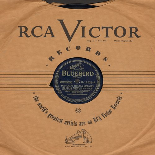 Merrill, Joan - You Can't Hold A Dream In Your Arms (song featured in 1942 film -What's Cookin'-)/My Little Cousin (10 inch 78 rpm record) - EX8/ - 78 rpm