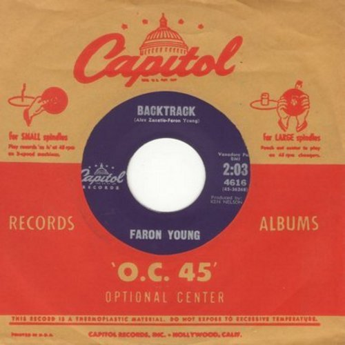 Young, Faron - Backtrack/I Can't Find The Time (with vintage Capitol company sleeve) - M10/ - 45 rpm Records
