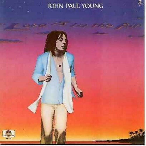 Young, John Paul - Love Is In The Air: Fool In Love, The Day My Heart Caught Fire, Lost In Your Love, Lazy Days, Lovin' In Your Soul (vinyl LP record - includes extended 5 minutes extended version of title song!) - NM9/VG7 - LP Records
