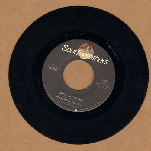 Young, John Paul - Love Is In The Air (DANCE CLUB FAVORITE!)/Where The Action Is  - NM9/ - 45 rpm Records
