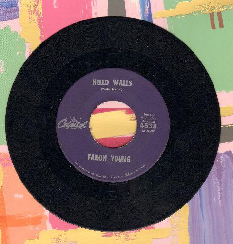 Young, Faron - Hello Walls/Congratulations - EX8/ - 45 rpm Records