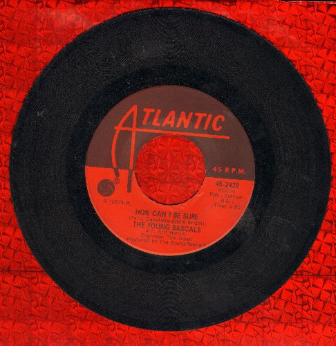 Young Rascals - How Can I Be Sure/I'm So Happy Now - EX8/ - 45 rpm Records