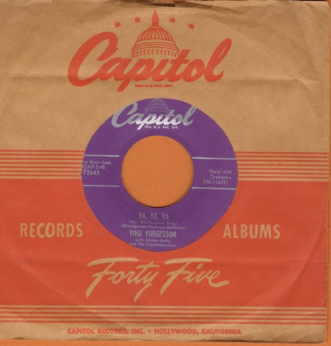 Yorgesson, Yogi - Ya, Ya, Ya/Mother-In-Law (with vintage Capitol company sleeve) - NM9/ - 45 rpm Records