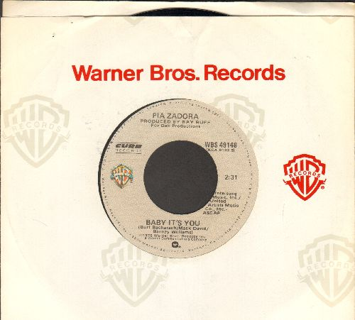 Zadora, Pia - Baby It's You/Roses Ain't Red (I Don't Love You) (with Warner Brothers company sleeve) - NM9/ - 45 rpm Records