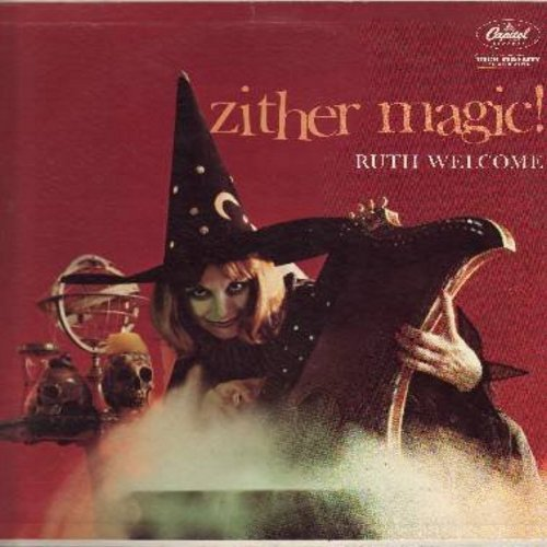 Welcome, Ruth - Zither Magic: Memories Are Made Of This, The Girl That I Marry, Vaya Con Dios, Hawaiian Wedding Song, It Might As Well Be Spring (vinyl MONO LP record) - NM9/EX8 - LP Records