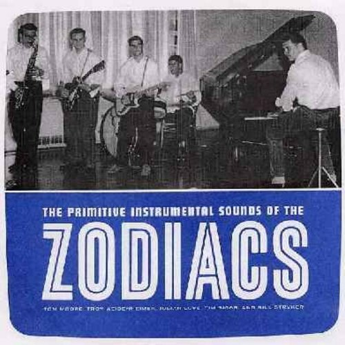 Zodiacs - The Caterpillar Crawl/Blintz/Jungle Beat/Cravan (orange vinyl re-issue of RARE Vintage Rock & Roll recordings, with picture sleeve) - M10/M10 - 45 rpm Records