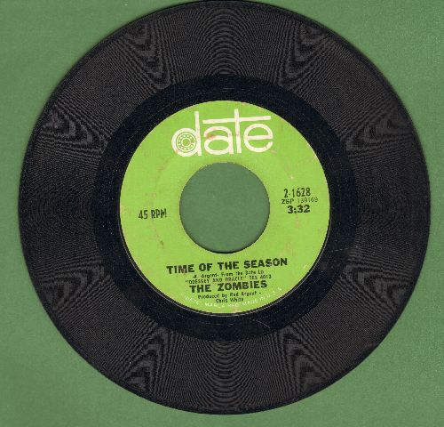 Zombies - Time Of The Season/Friends Of Mine  - VG7/ - 45 rpm Records