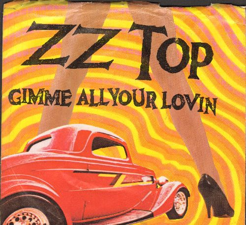 ZZ Top - Gimme All Your Lovin/If I Could Only Flag Her Down (with picture sleeve) - EX8/VG7 - 45 rpm Records