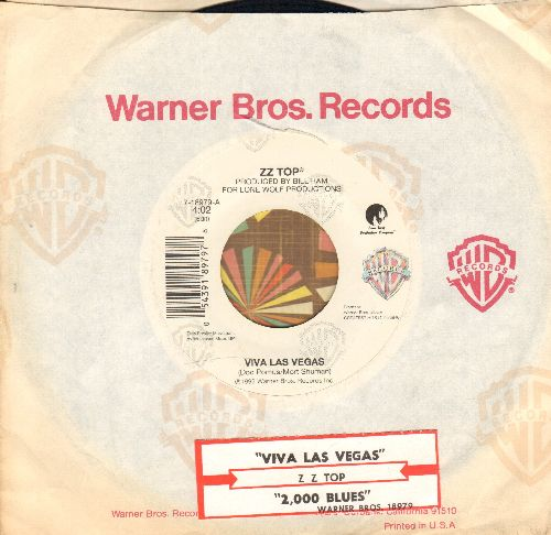 ZZ Top - Viva Las Vegas/2000 Blues (with Warner Brothers company sleeve and juke box label) - NM9/ - 45 rpm Records