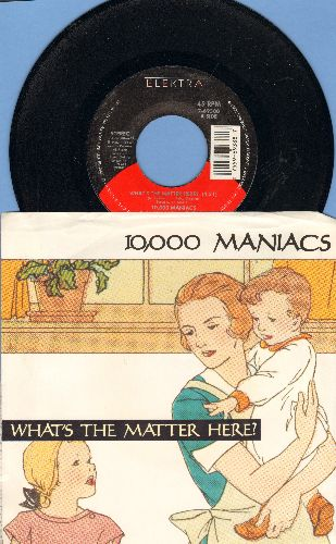10,000 Maniacs - What's The Matter Here?/Cherry Tree (with picture sleeve) - NM9/VG7 - 45 rpm Records